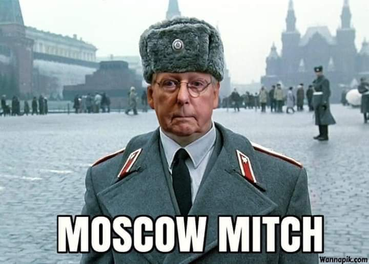 Moscow Mitch: Short-Haired Putin Type Pinko Cad